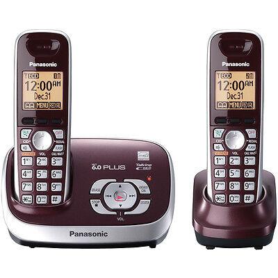 Panasonic KX-TG6572R DECT 6.0 Plus Cordless Phone, RED