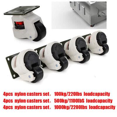 4pcs Leveling Castors Set 425063mm Heavy Duty Machine Levelling Castors Wheels