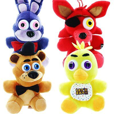 Set Of 4  6 5  Five Nights At Freddys Plush   Officially Licensed Fnaf