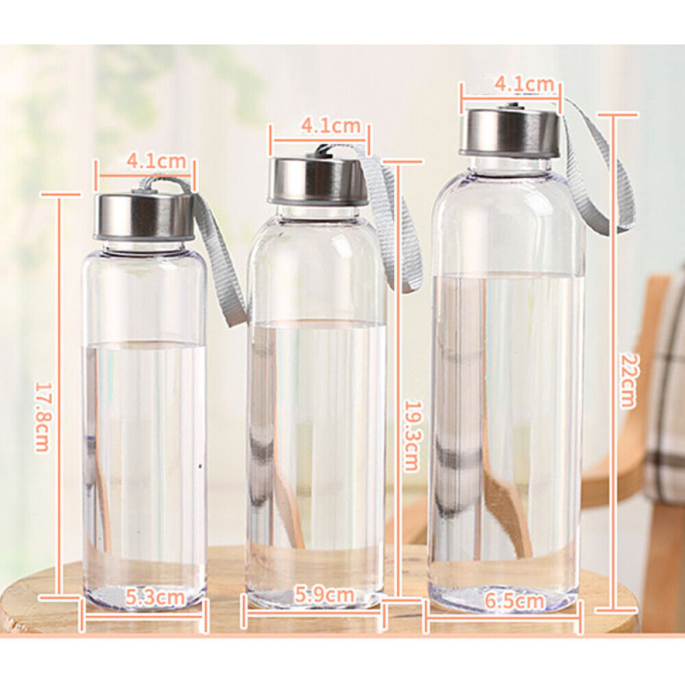 300//400//500ML PORTABLE PLASTIC WATER CUP DRINKING BOTTLE FOR OUTDOOR SPORTS