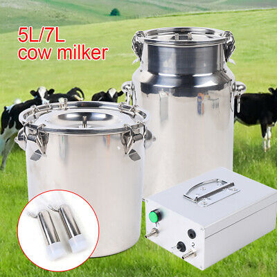 Cow Milker Electric Milking Machine Stainless Cows Vacuum Impulse Pump Milker