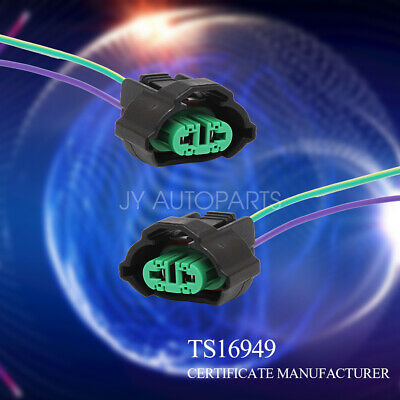 """H11 H8 Female Adapters Wiring Harness Sockets w/ 4"""" Wire For Headlight Fog"""