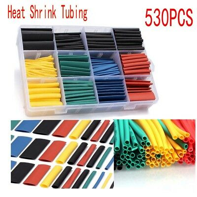 530pcs Heat Shrink Tubing Insulation Shrinkable Tube 21 Wrap Wire Cable Sleeve