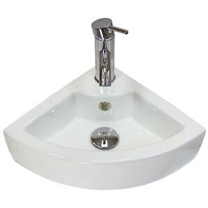 Corner Hand Sink : Cloakroom-Hand-Sink-Corner-Wash-Basin-Bathroom-Wall-Mounted-Small ...