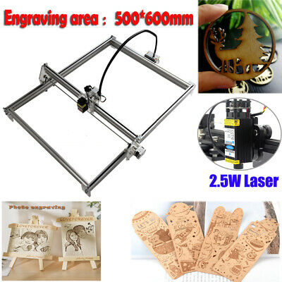 Mini Cnc 5065 2axis Engraving Router2.5w Laser Module Milling Engraver Machine