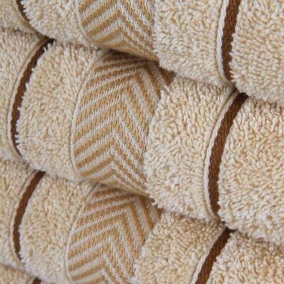 10tlg Handtuch-Set in Beige 2x Duschtuch 4x Handtuch 2x Gästetuch 2x Waschhandsc