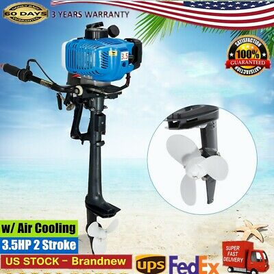 3.5hp 2 Stroke Outboard Motor Inflatable Fishing Boat Engine W Air Cooling