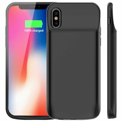 Rechargeable 6000mAh Extended Battery Portable Charging Case Cover for iPhone X