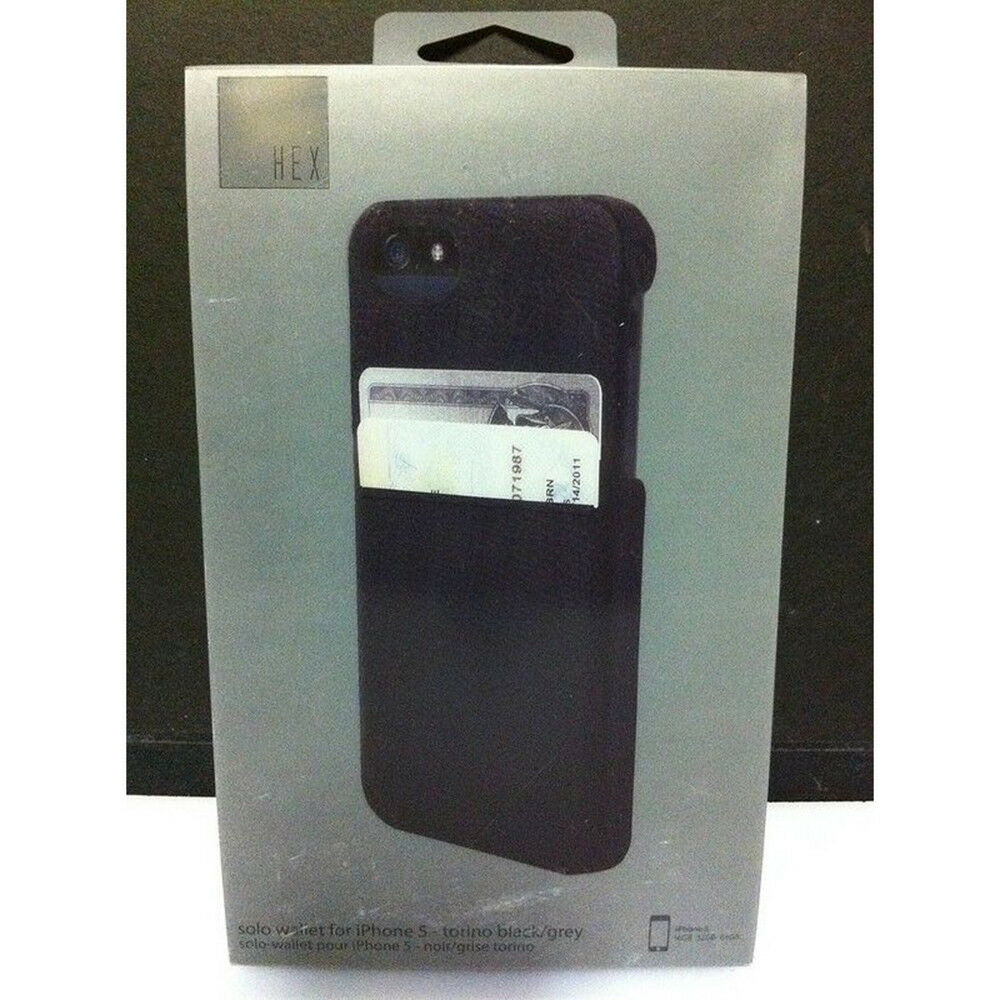 Hex Solo Wallet for iPhone 5/5S - iPhone - Torino Black, Gra