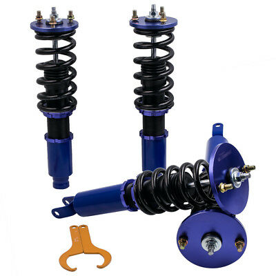 Complete Set Coilovers For Honda Accord 90-97 Acura CL 97-99 Adj. Height Blue ()