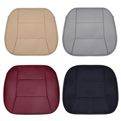 PU Leather Car Seat Cover Breathable Front Seat Cushion Mat Protector Universal