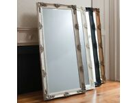 New & boxed Large French Silver 5.5ft Abbey Mirror Black Silver Gold or cream Only £139 last few