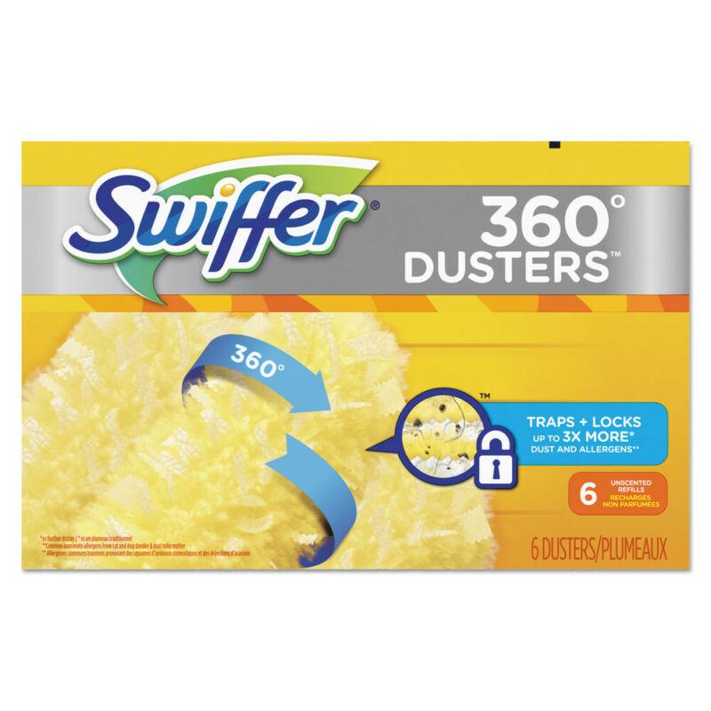 P&G Professional 360 Dusters Refill, Dust Lock Fiber, Yellow, 6/box, 4 Box/carto