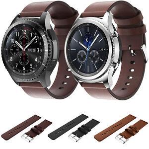 Samsung-Gear-S3-Frontier-Clasico-Correa-De-Reloj-Cuero-Pulsera-Pulsera-De-Muneca