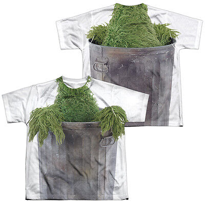 SESAME STREET OSCAR THE GROUCH COSTUME Kids Boys Girls Halloween Tee Shirt