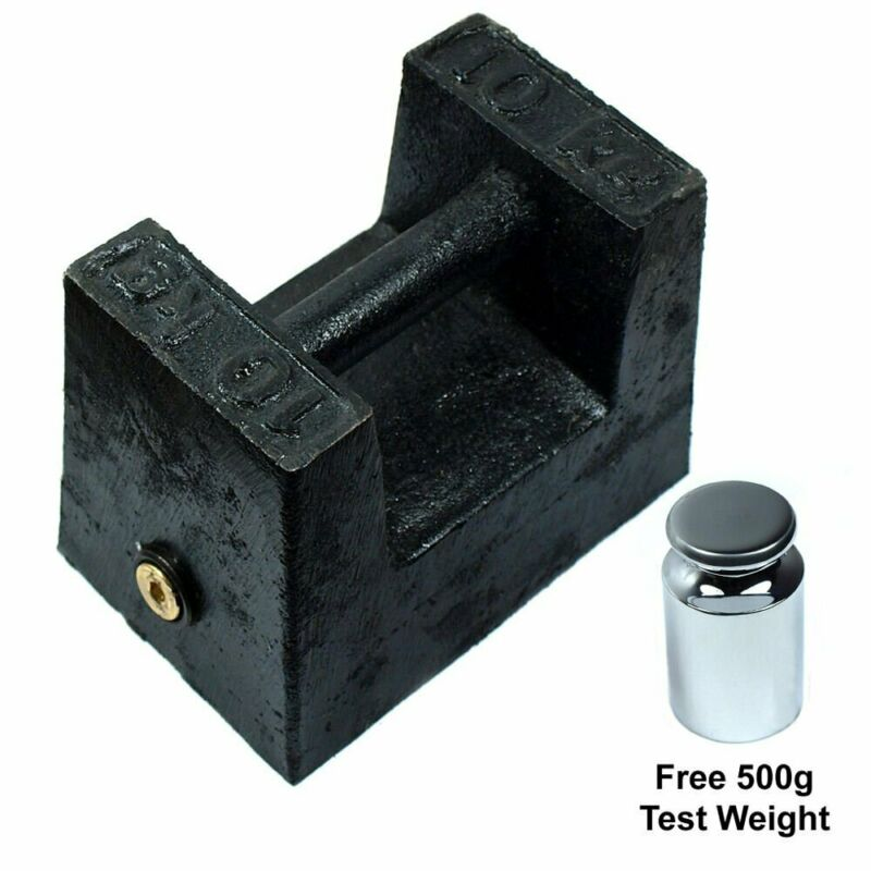 10 KG Cast Iron Calibration Weight with 500g Test Weight