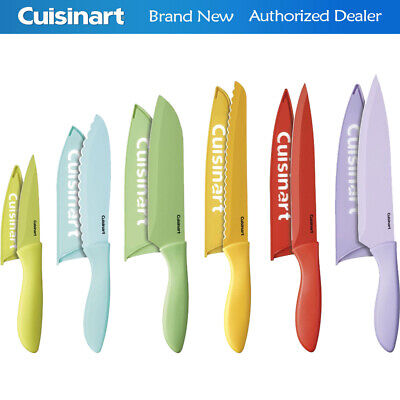 Cuisinart 12-Lead-pipe cinch Ceramic Coated Color Knife Set with Blade Guards