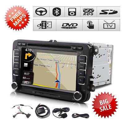 """7"""" 2 Din DVD Player GPS Navigation Radio Bluetooth für VW Volkswagen Universal"""