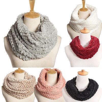 Fashion Womens Blend Circle Winter Collar Scarf Shawl Collar Wrap Stole Scarve