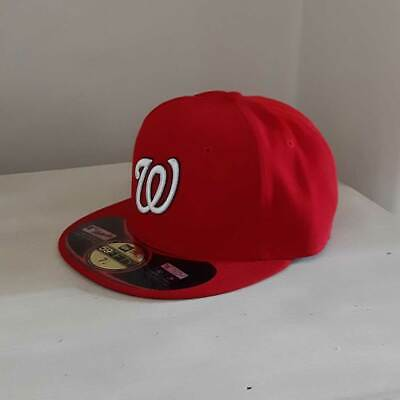 new arrival 66871 30670 Washington Nationals New Era MLB OnField 59FIFTY Fitted Cap - size 7 1 4
