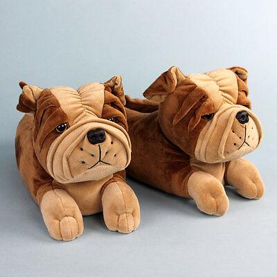 - Bulldog Slippers - Animal Slippers for Men & Women