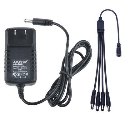 DC 12V 2A Power Supply +4 Split Power for CCTV Security Camera DVR Zmoda Swann