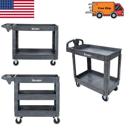 23tier 550lb Heavy Duty Utility Tool Cart Dolly Trolley Service Rolling Plastic