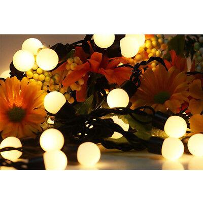28/40LED Light Fairy Bulbs Lights Garland In/Outdoor Garden Christmas - Outdoor Christmas Garland