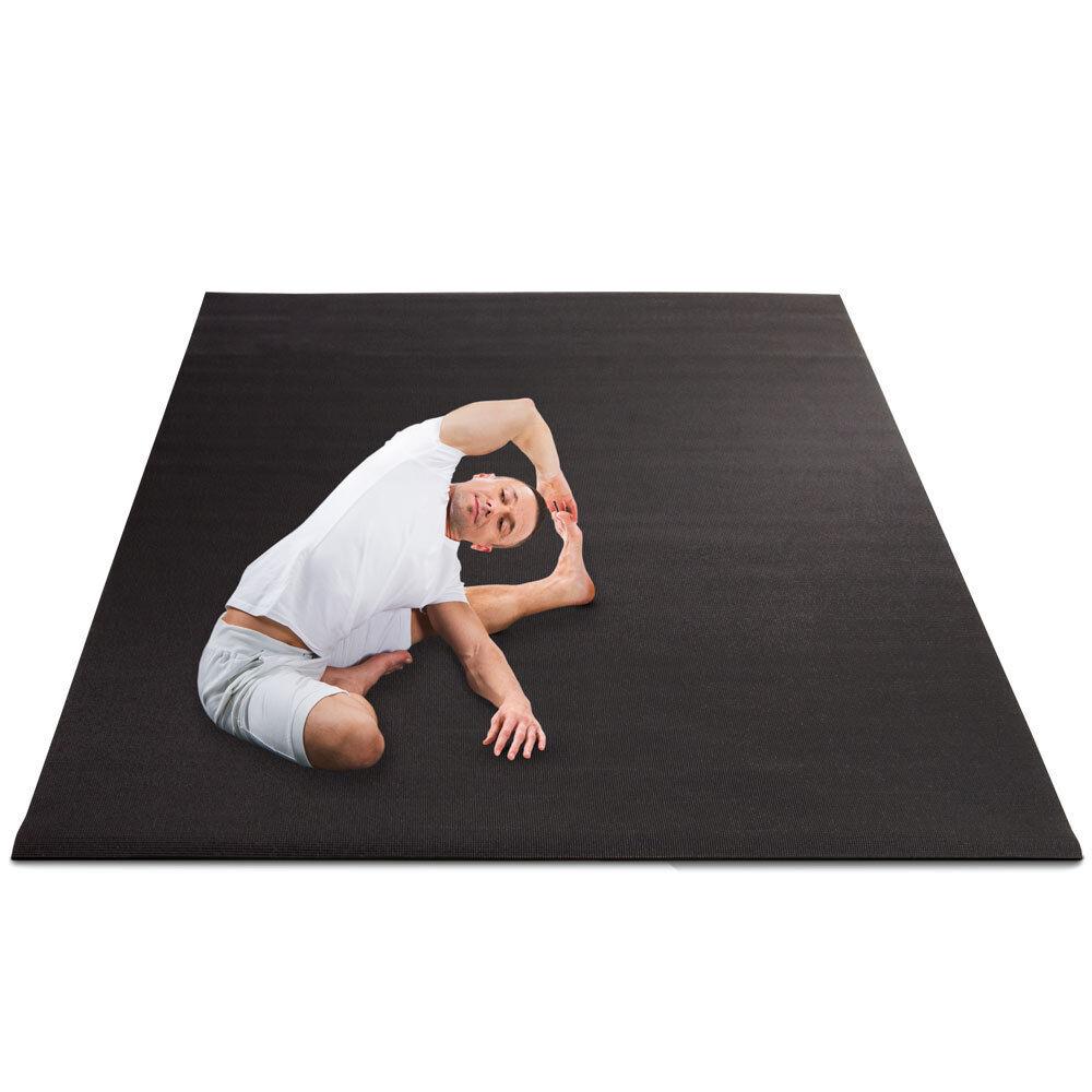Yoga Floor Mat, 8mm Size, Yoga & Pilates Black Mat, Non-Slip
