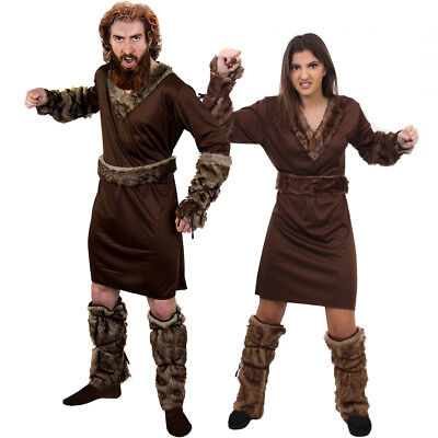 COUPLES VIKING COSTUMES HIS AND HERS ADULT MEDIEVAL WARRIOR FANCY DRESS OUTFIT (Couples Costume)