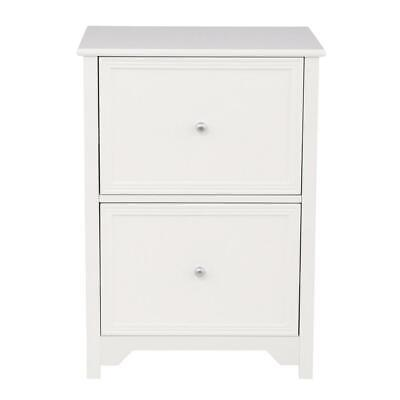 File Cabinet Furniture 28.5 in. 2-Drawers Wood Oxford White Classic Style Oxford File Cabinets