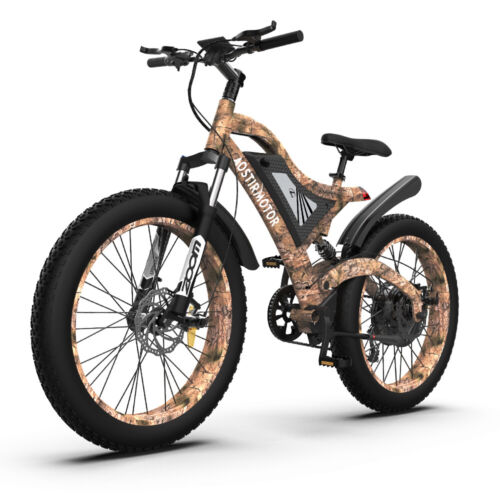 """AOSTIRMOTOR 1500W Electric Bicycle 48V/15Ah Samsung Battery 26"""" Fat Tire Ebike"""