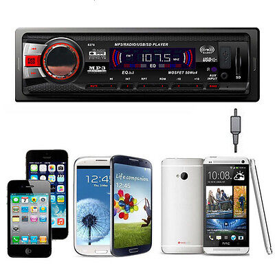 Car Audio Stereo In Dash AM FM Aux Input Receiver with SD USB MP3 Radio Player * on Rummage