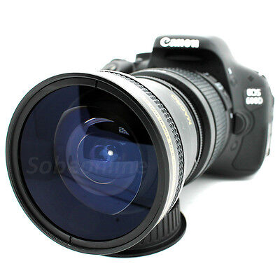 Ultra Wide Angle Macro Fisheye Lens for Canon 80D 70D 60D T6 T5 T3 SL1 Camera