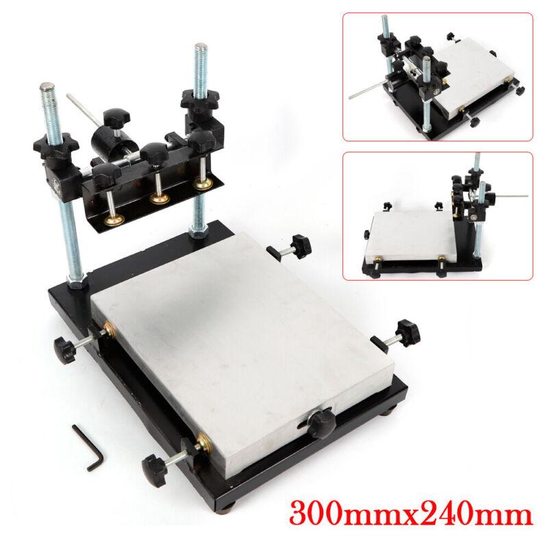PCB SMT Stencil Printer Manual Solder Paste Stencil Printer Machine 300x240mm us