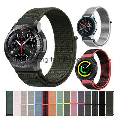 Für Samsung Gear S3 Sport Galaxy Watch Gewebt Nylon Sport Loop Gewebt Armband