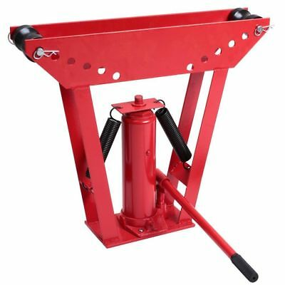 12 Ton Hydraulic Pipe Bender Hand Pump Tube Tubing Exhaust Tube Bending 6 Dies