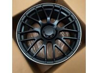 "x4 19"" Mercedes C63s Style Alloy Wheels Matt Black A CLA C Class A45 CLA45 Vito"