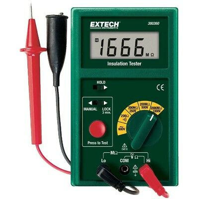 Digital Insulation Tester Resistance Multimeter Measuringmeterto2000 Megohm