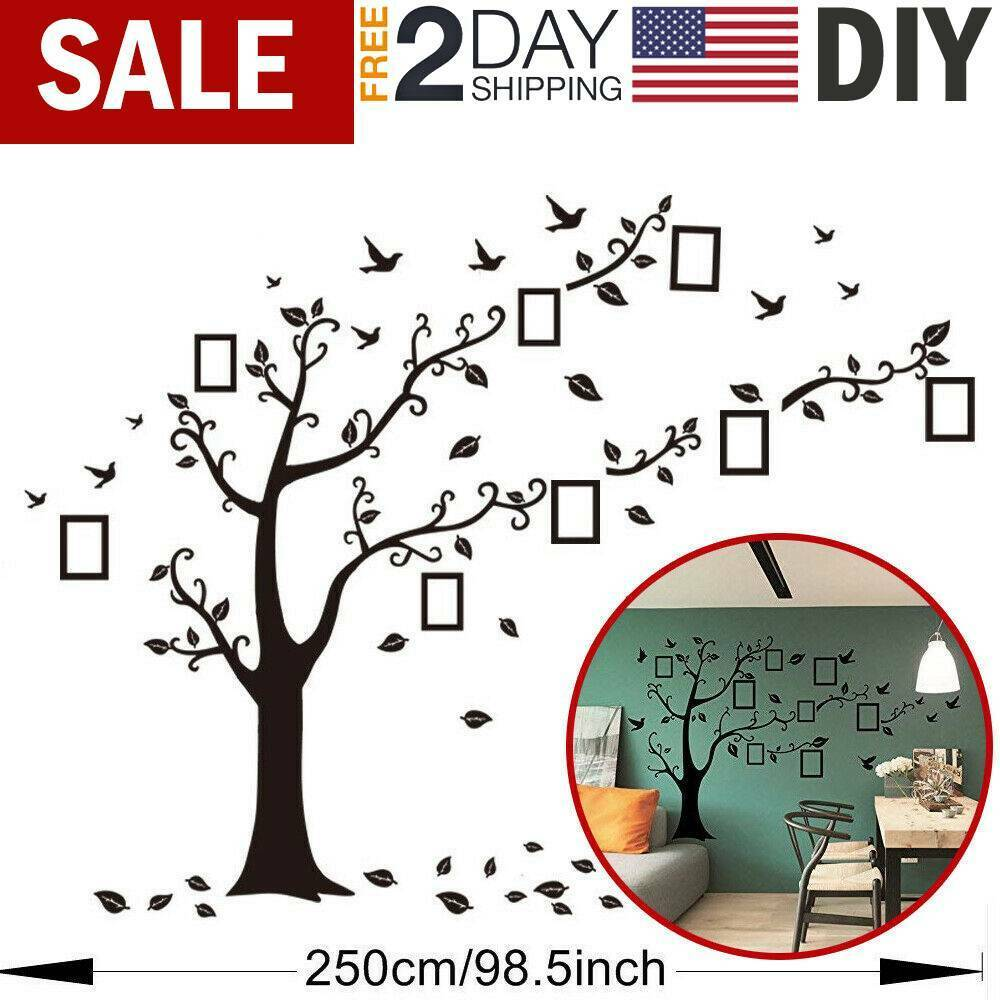 Home Decoration - Large Family Tree Wall Decal Stickers Vinyl Art Photo Gallery Home Decoration