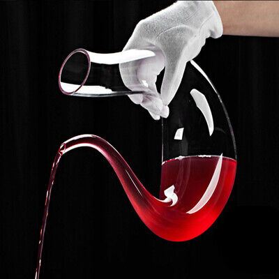 U Shape Crystal Unique Wine Accessories Lead-Free Glass Bottle for Home