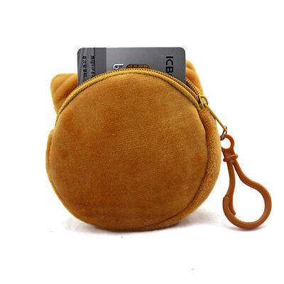 Funny Kids Cute 3D Cat Face Design Zipper Pouch Case Coin Purse Wallet Makeup Ba ()