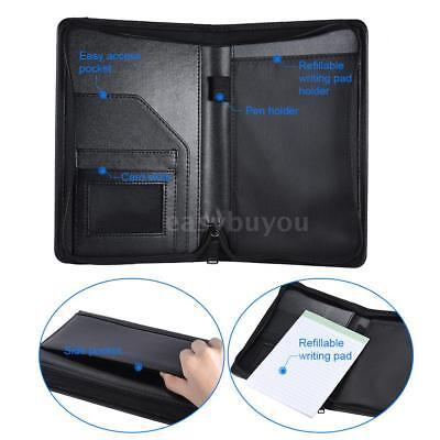 A5 Portable Business Portfolio Folder Document Case Organizer Pu Leather F2w8
