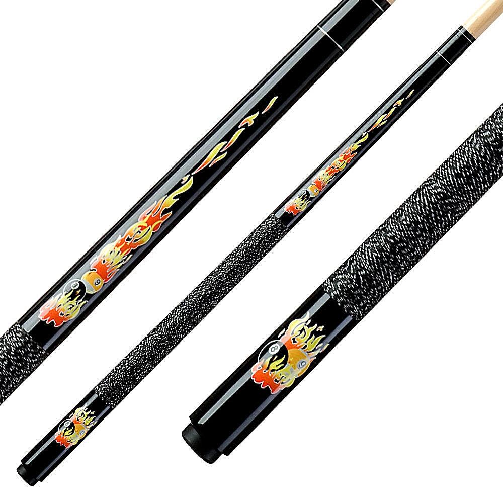 """Kinderqueue Pool Queue """"Flames"""" black 2- teilig 123 cm Billiard NEU"""