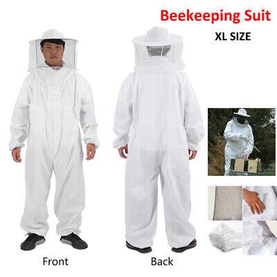 Beekeeper Protect Bee Keeping Suit Jacket Safty Veil Hat Body Hood Equipment Xl