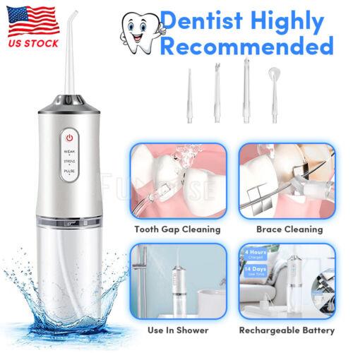 Cordless Water Flosser Dental Oral Irrigator Travel Teeth Cleaner Floss Pick