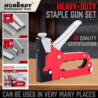 Tacker Kit - Heavy Duty Staple Gun Set Tacker Hand 2 in 1 1500Pc Nails Fastener Tool KIt New