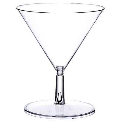 Mini Martini Glasses 2 oz. Disposable Plastic 2-Piece Dessert Appetizer Tasting