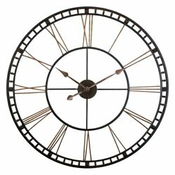 Infinity Instruments The Tower XXL Wall Clock, Gray / Bronze