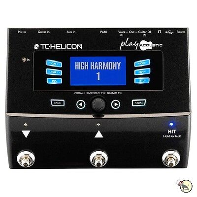 Tc Helicon Voicelive Play Acoustic Guitar  Vocal Effects Fx Pedal Processor